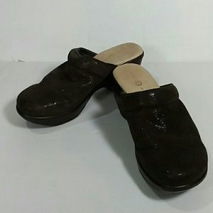 Jambu Sport Wedge Mule Design Brown 8M Leather